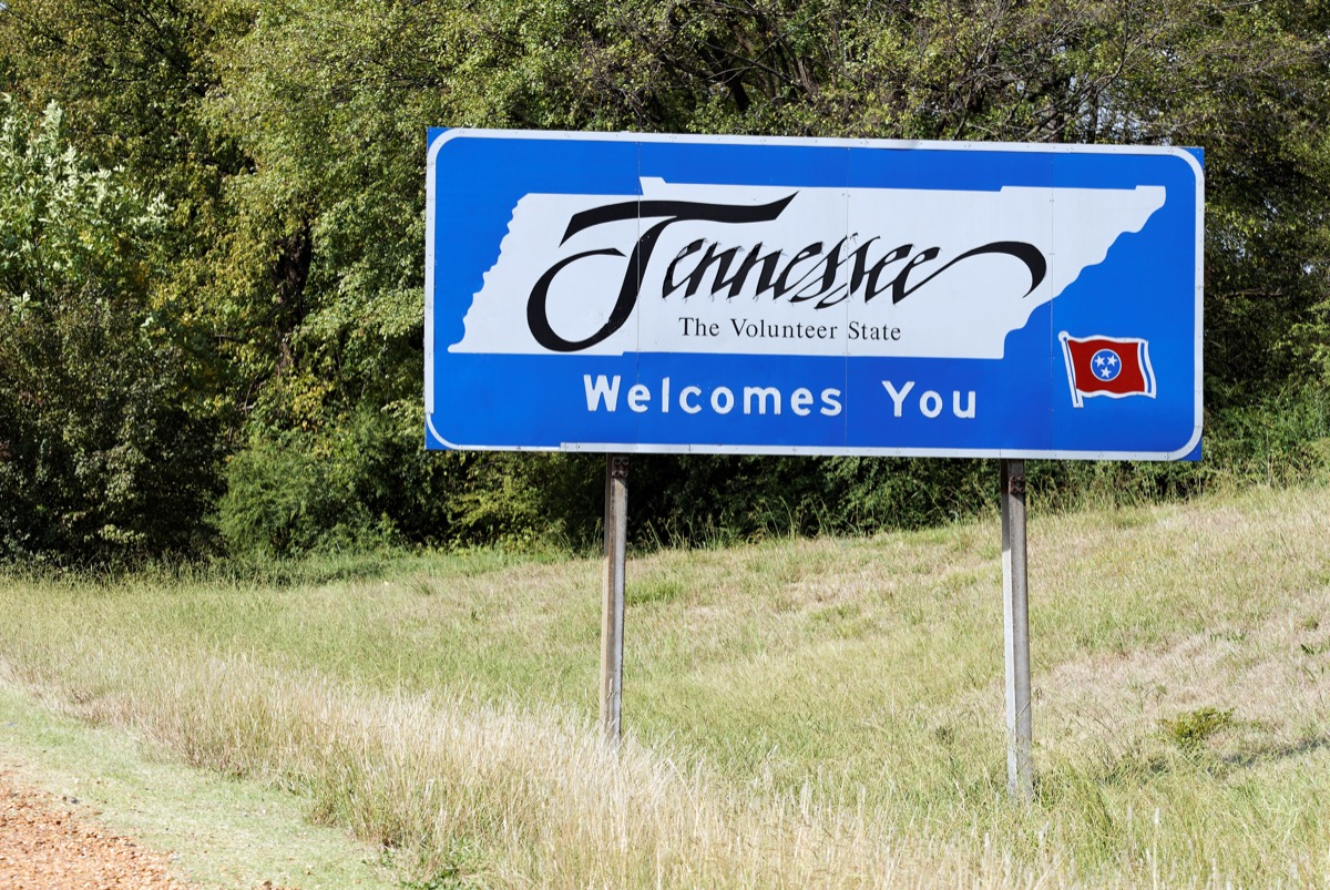 tennessee state welcome sign, iconic state photos
