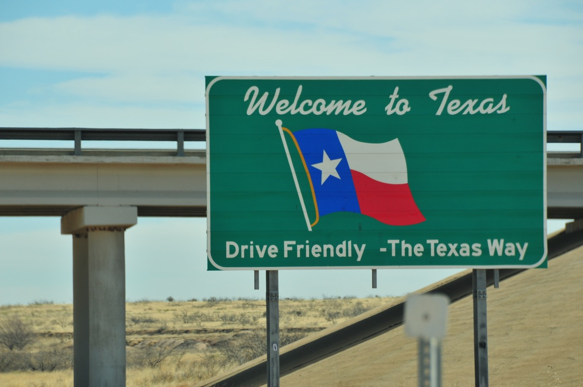 texas state welcome sign, iconic state photos