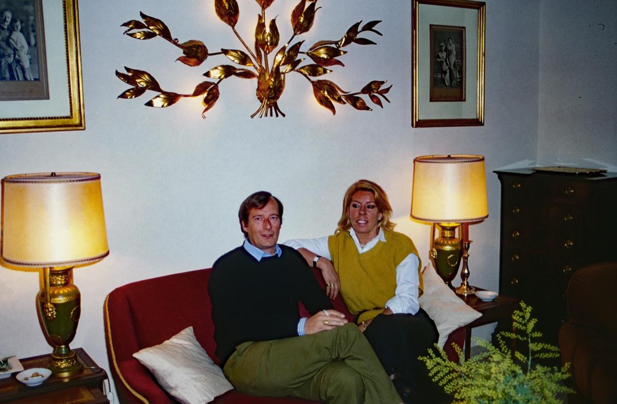 brass wall hanging 1980s interior design