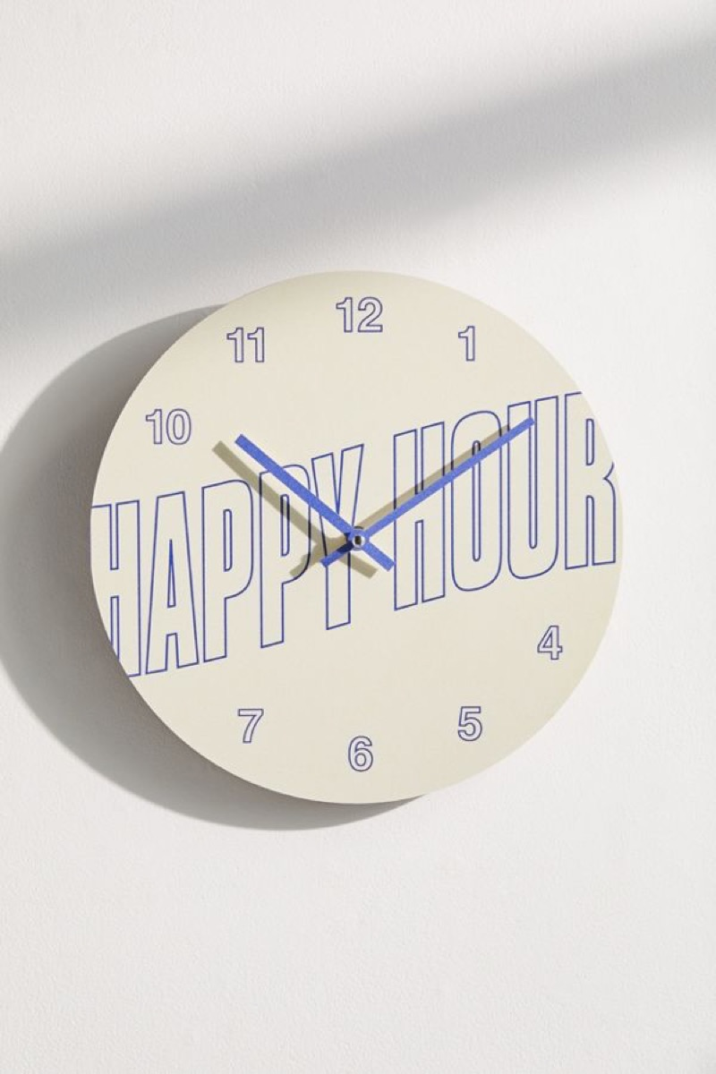 Urban Outfitters Happy Hour Wall Clock