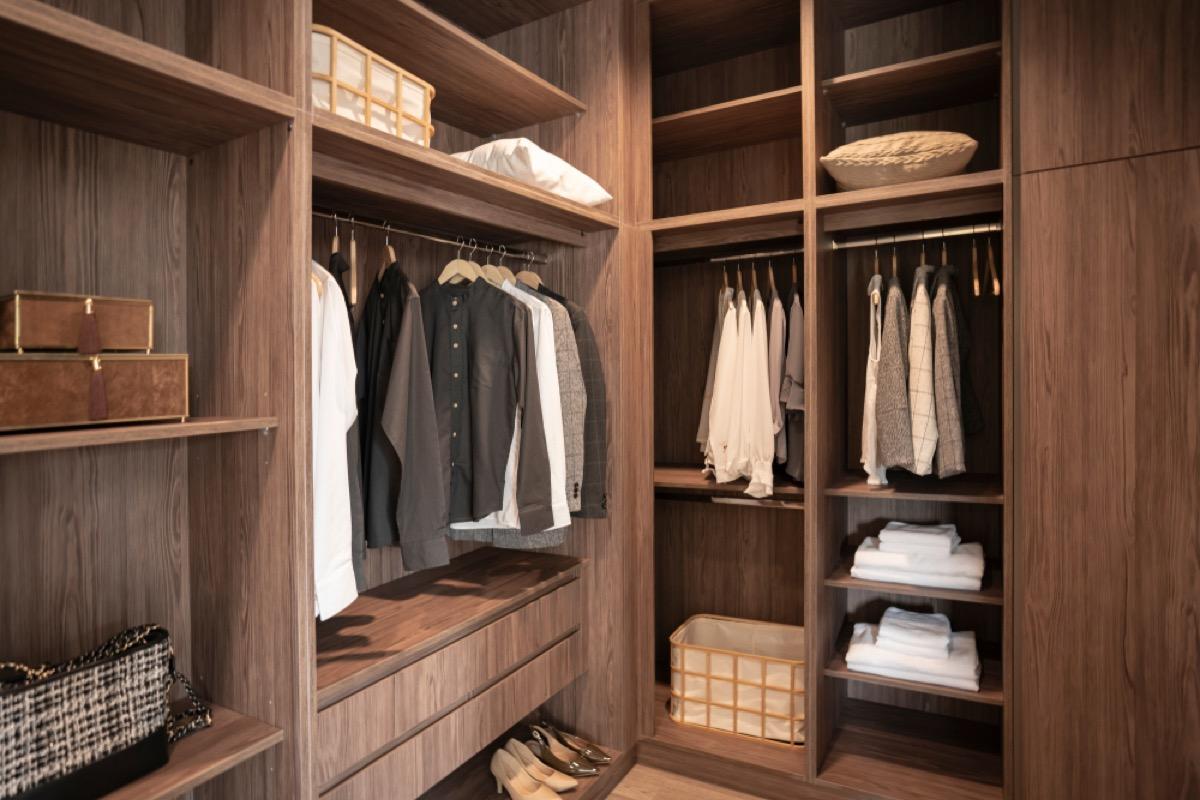 cedar walk-in closet, bad home renovations