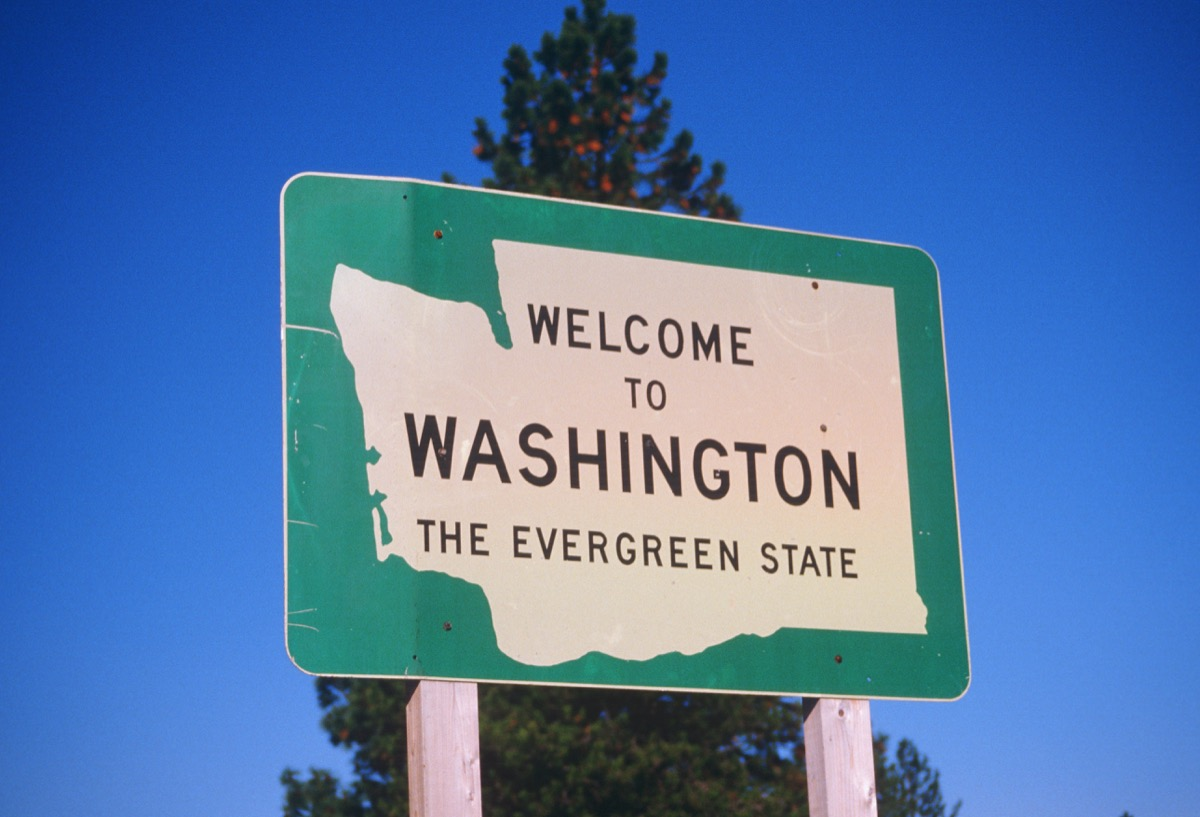 washington state welcome sign, iconic state photos