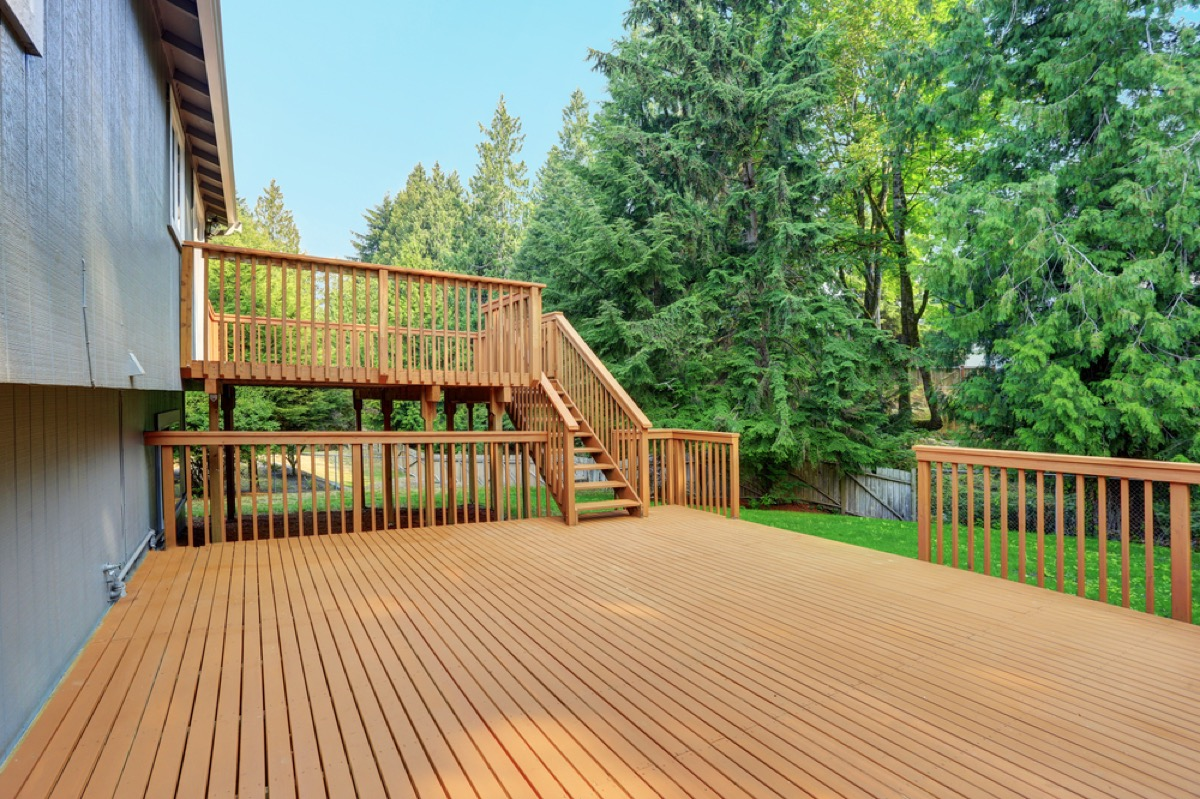 wooden deck home problems