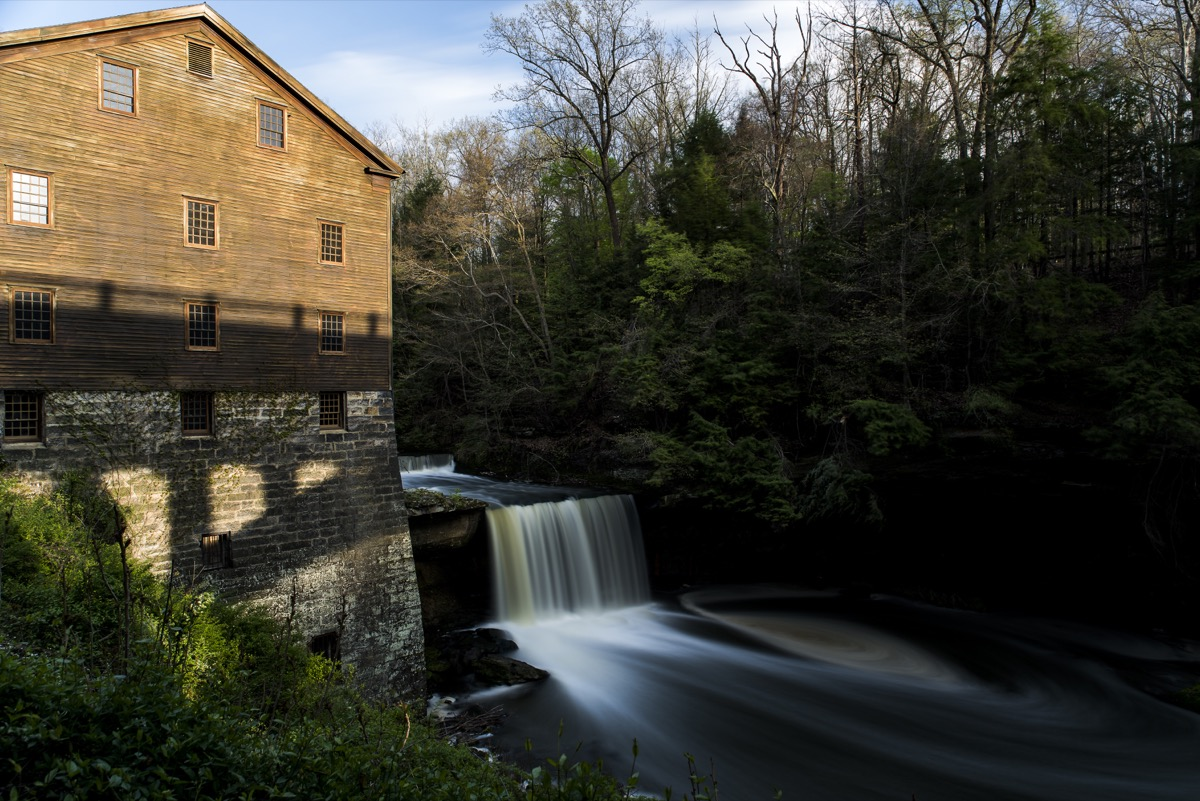 mill waterfall in youngstown ohio