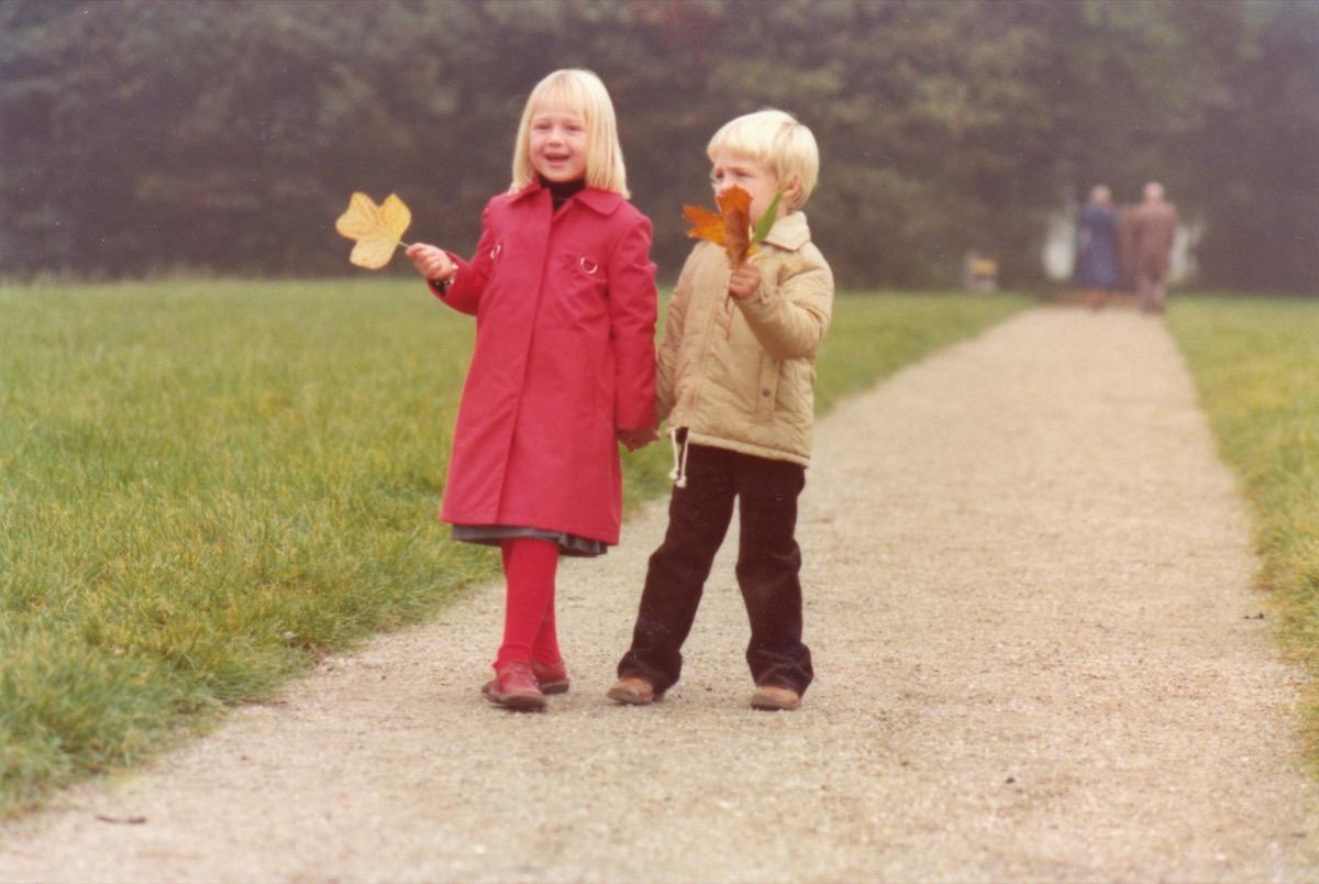 1970s kids walking around in the park, 1970s nostalgia