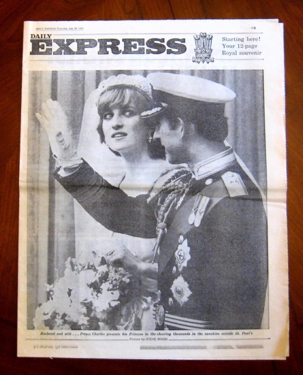 royal wedding between princess diana and prince charles, 1980s nostalgia