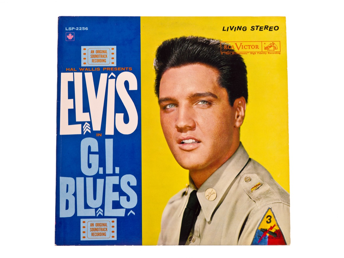 Elvis GI Blues features The King in military garb, celebrities who served