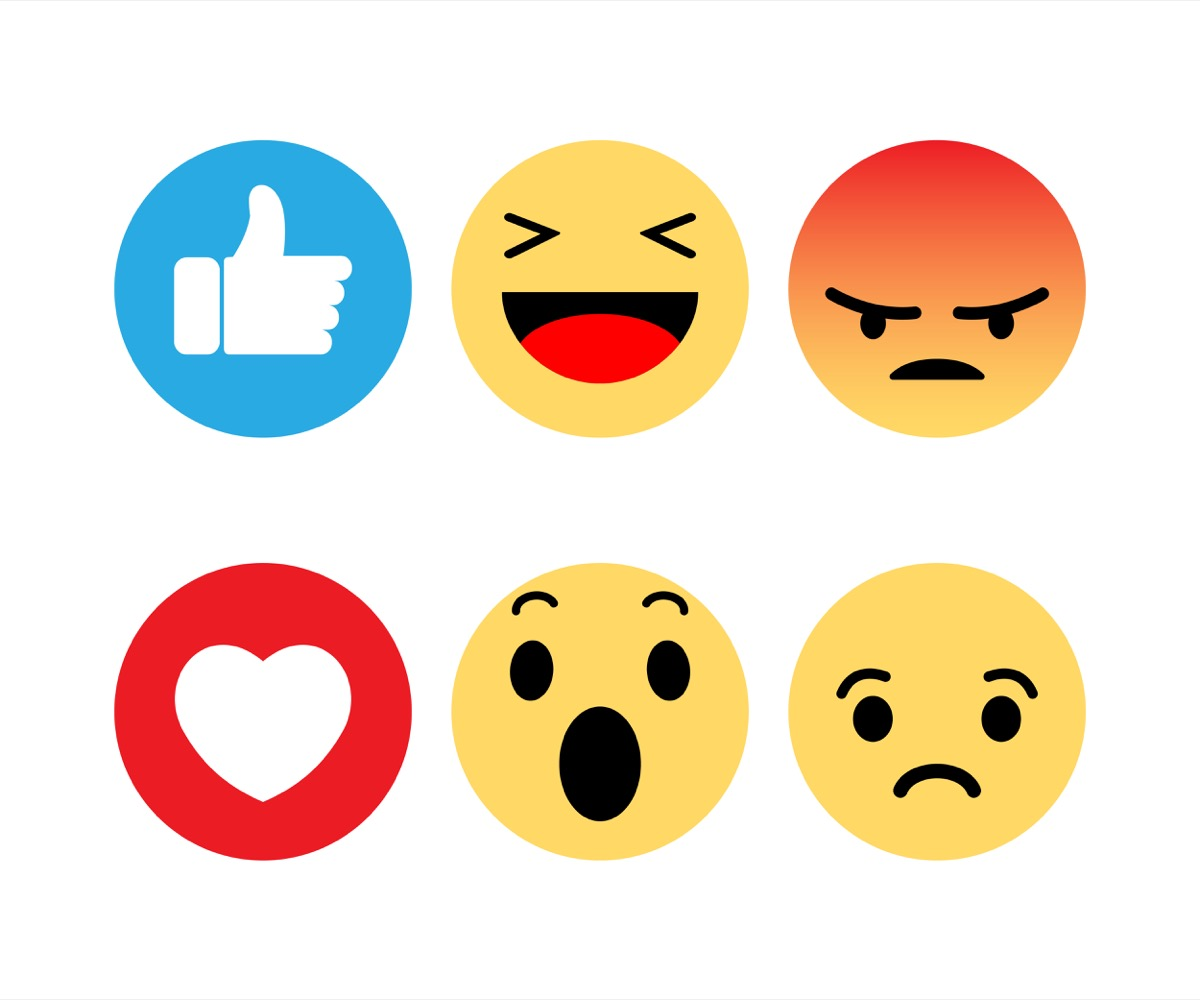Emojis are plentiful, including thumbs up, heart, shocked face shown, but there is no white wine emoji