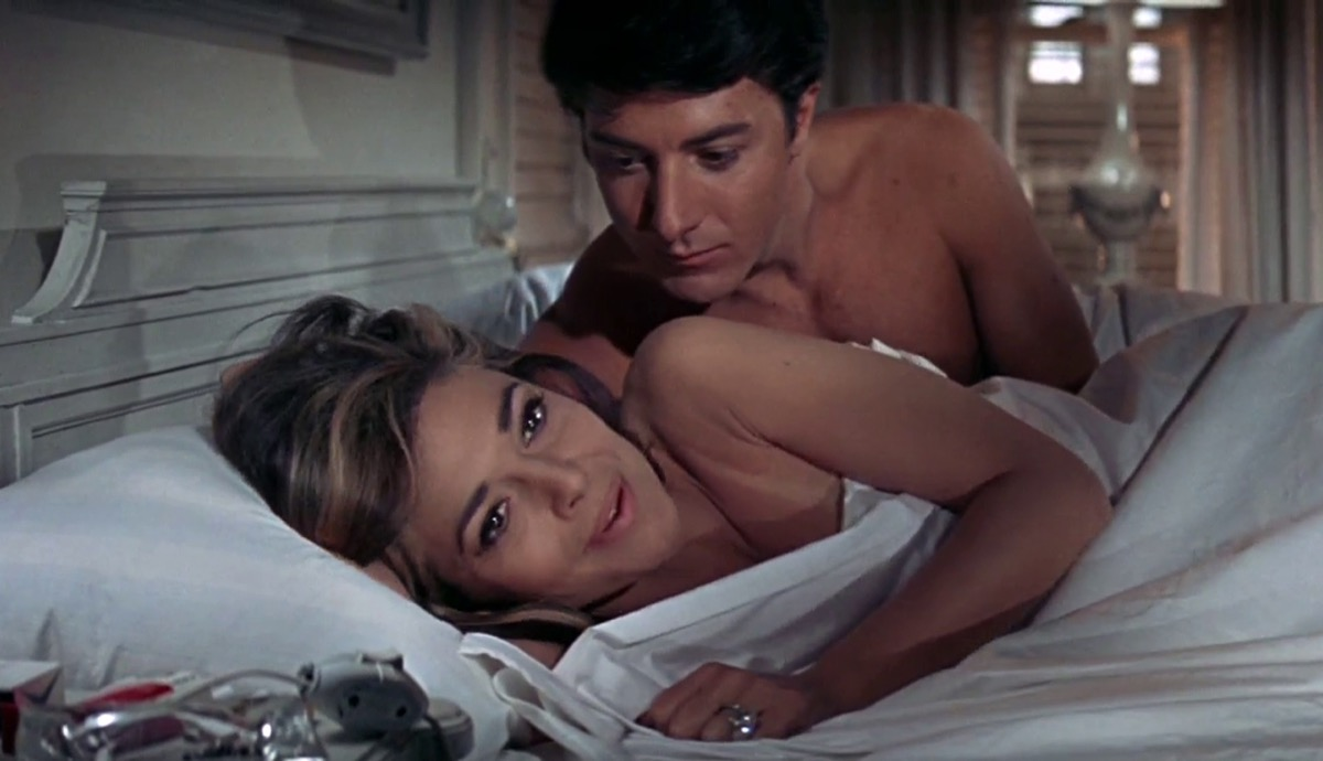 Ben and Mrs. Robinson in bed in The Graduate, things hollywood gets wrong about sex