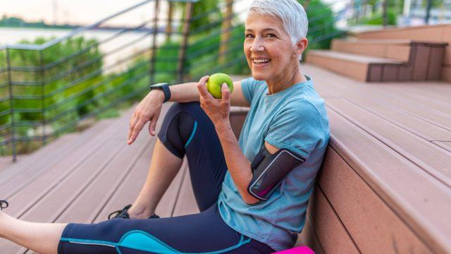 Healthy older woman