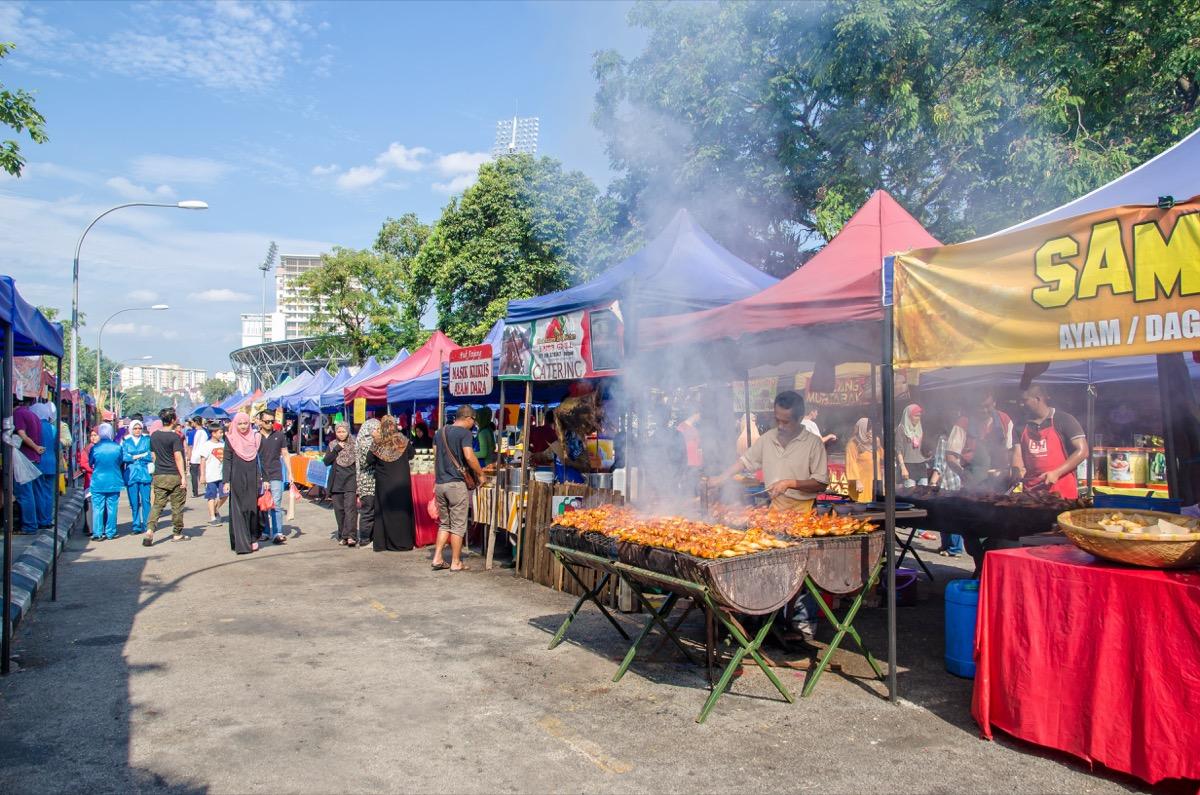 A Bazaar Set Up For Ramadan