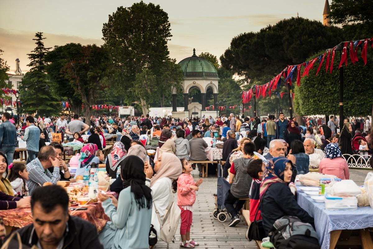 A Big Iftar Meal for Ramadan