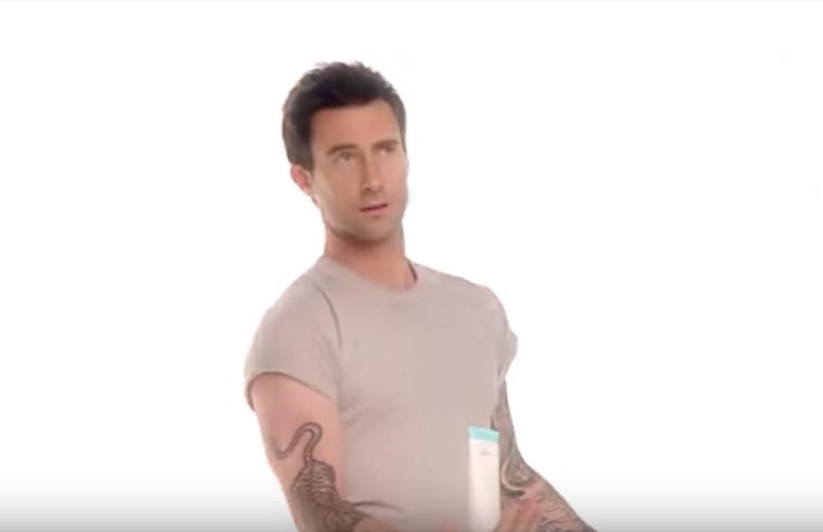 adam levine holding proactiv bottle, celebrity infomercial