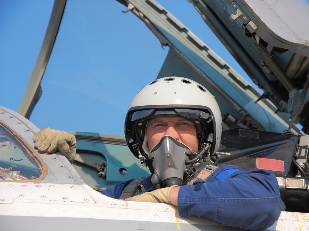 A Pilot Flying a Plane for the Army Air Force Military Slang Terms