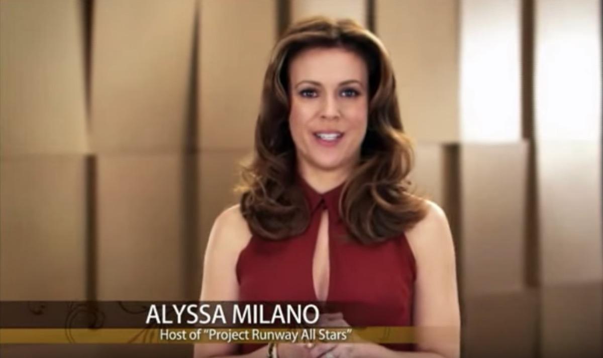 alyssa milano in haircare commercial, celebrity infomercial