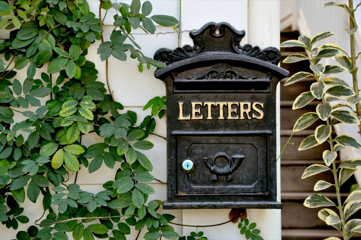 letterbox, vintage home upgrades