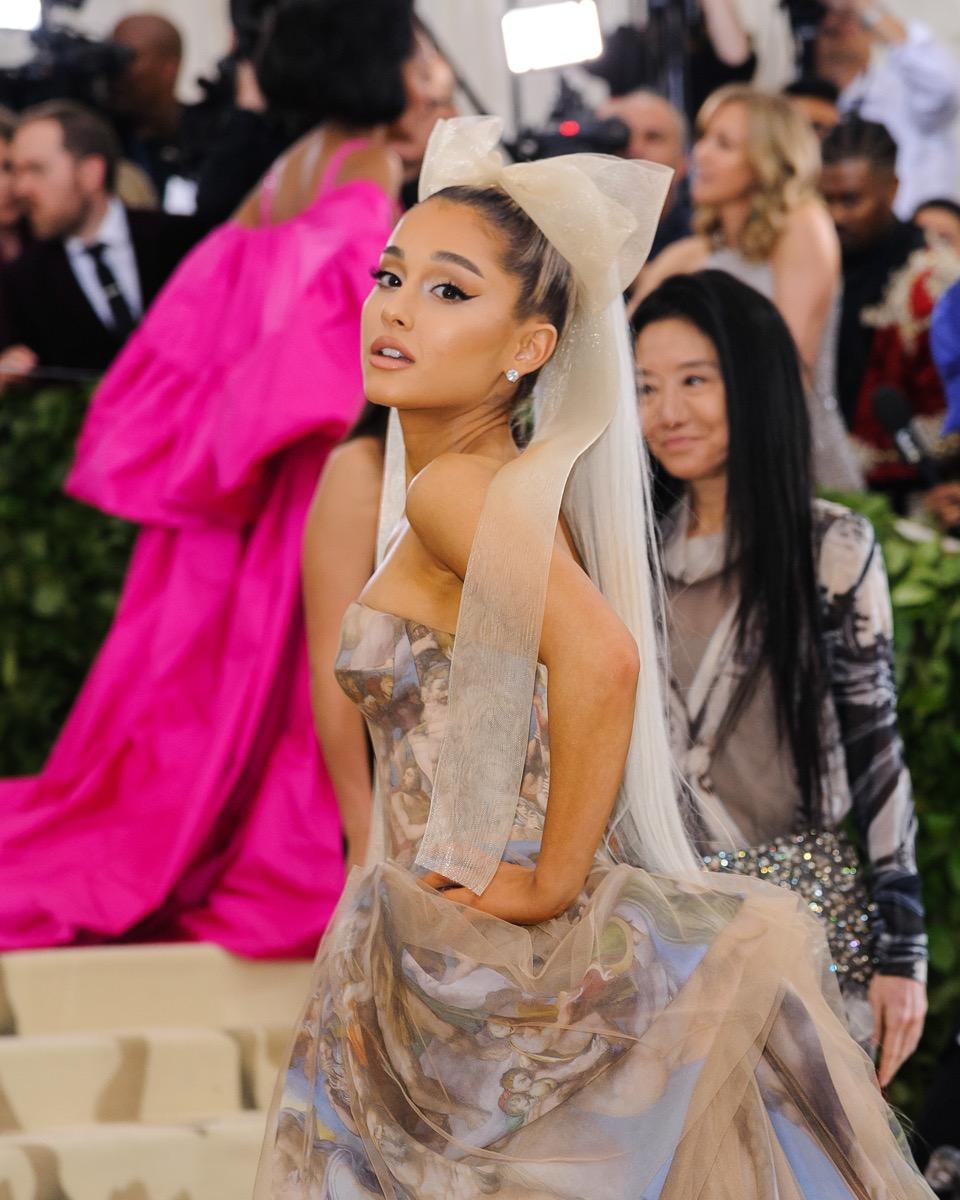 Ariana Grande at the Met Gala in 2018
