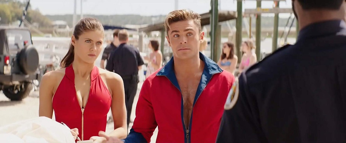 movie scene from 2017 baywatch, memorial day movies