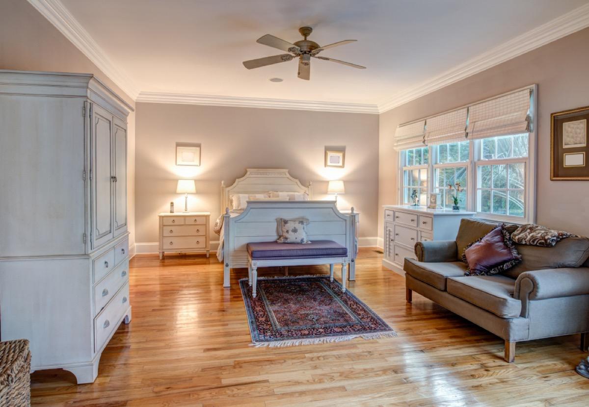 modern bedroom, wardrobe, vintage home upgrades