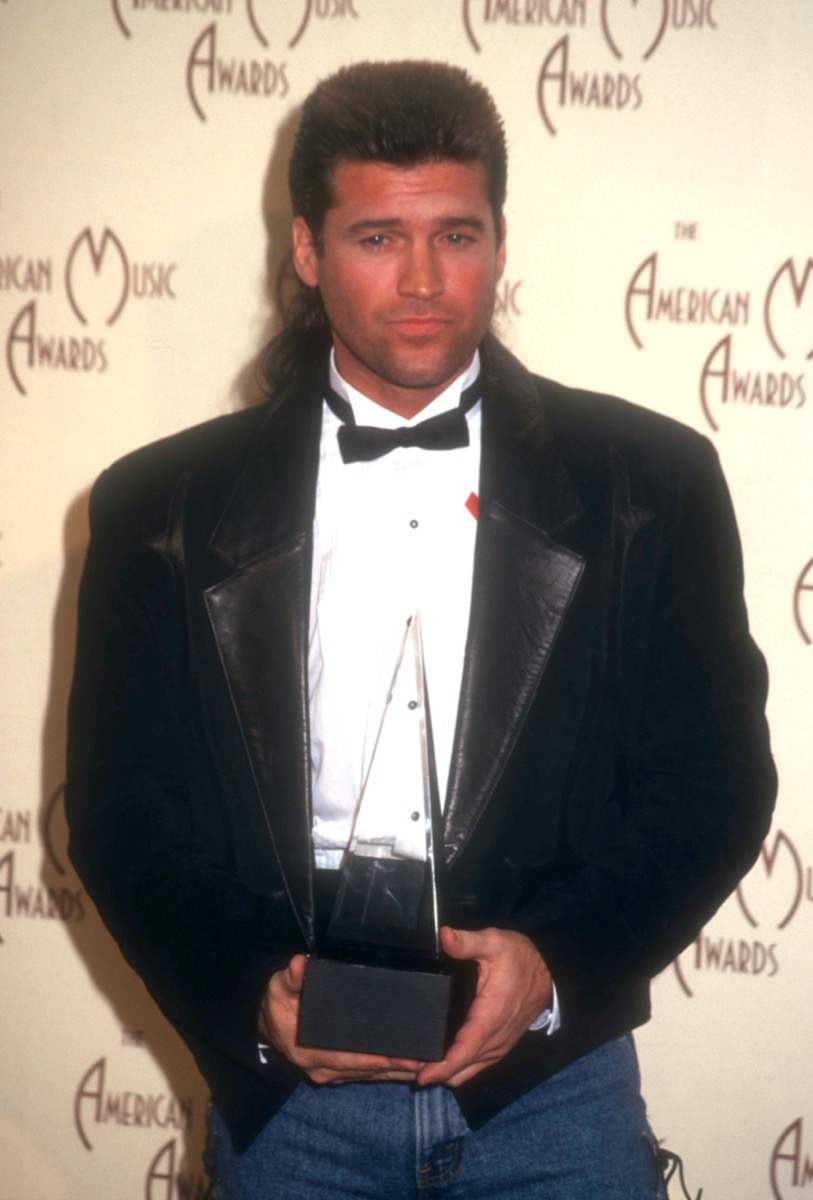 billy ray cyrus america music awards in 1993, old photos country stars