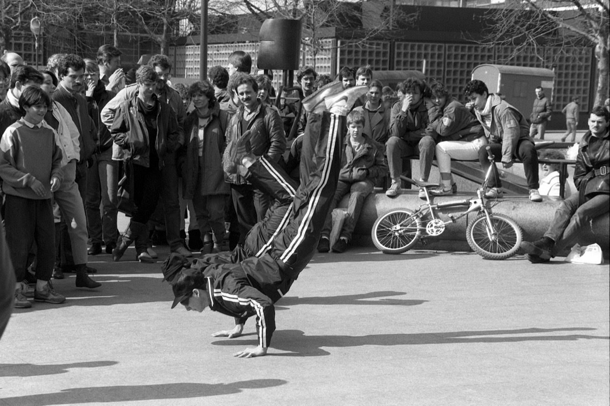 kids breakdancing, 1980s nostalgia