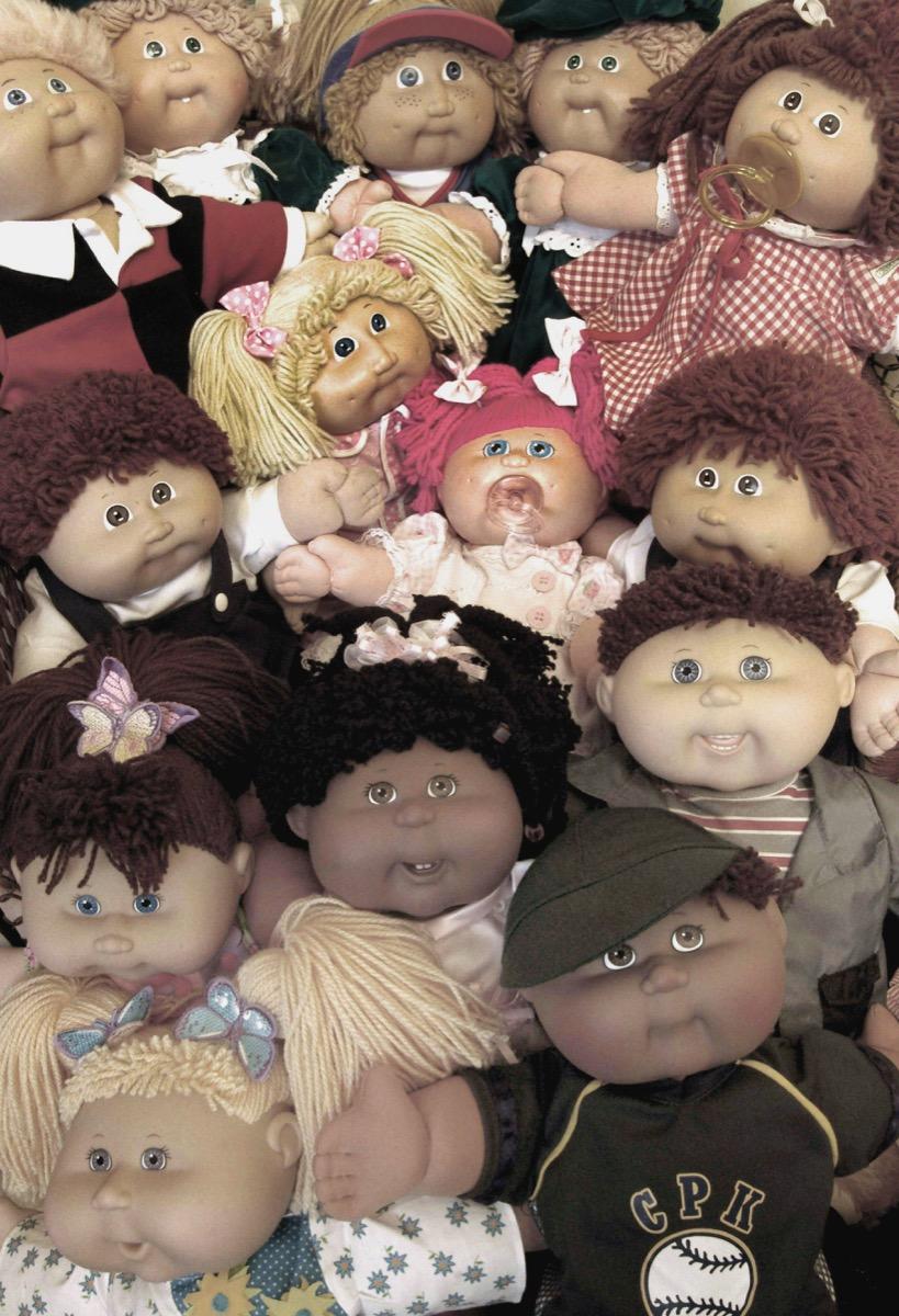 cabbage patch doll kids, 1980s nostalgia