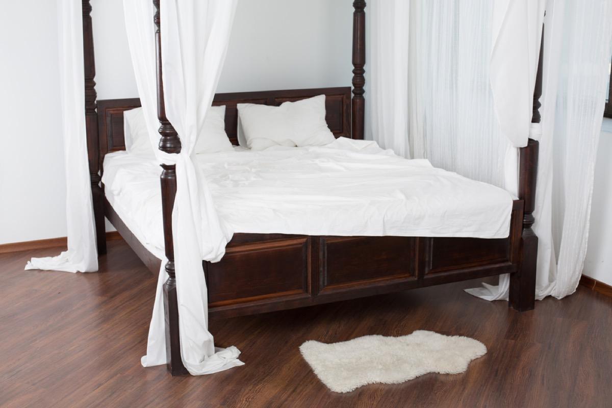 four poster bed, vintage home upgrades