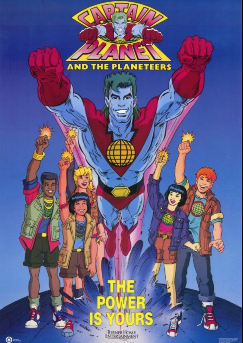 captain planet, things only 90s kids remember