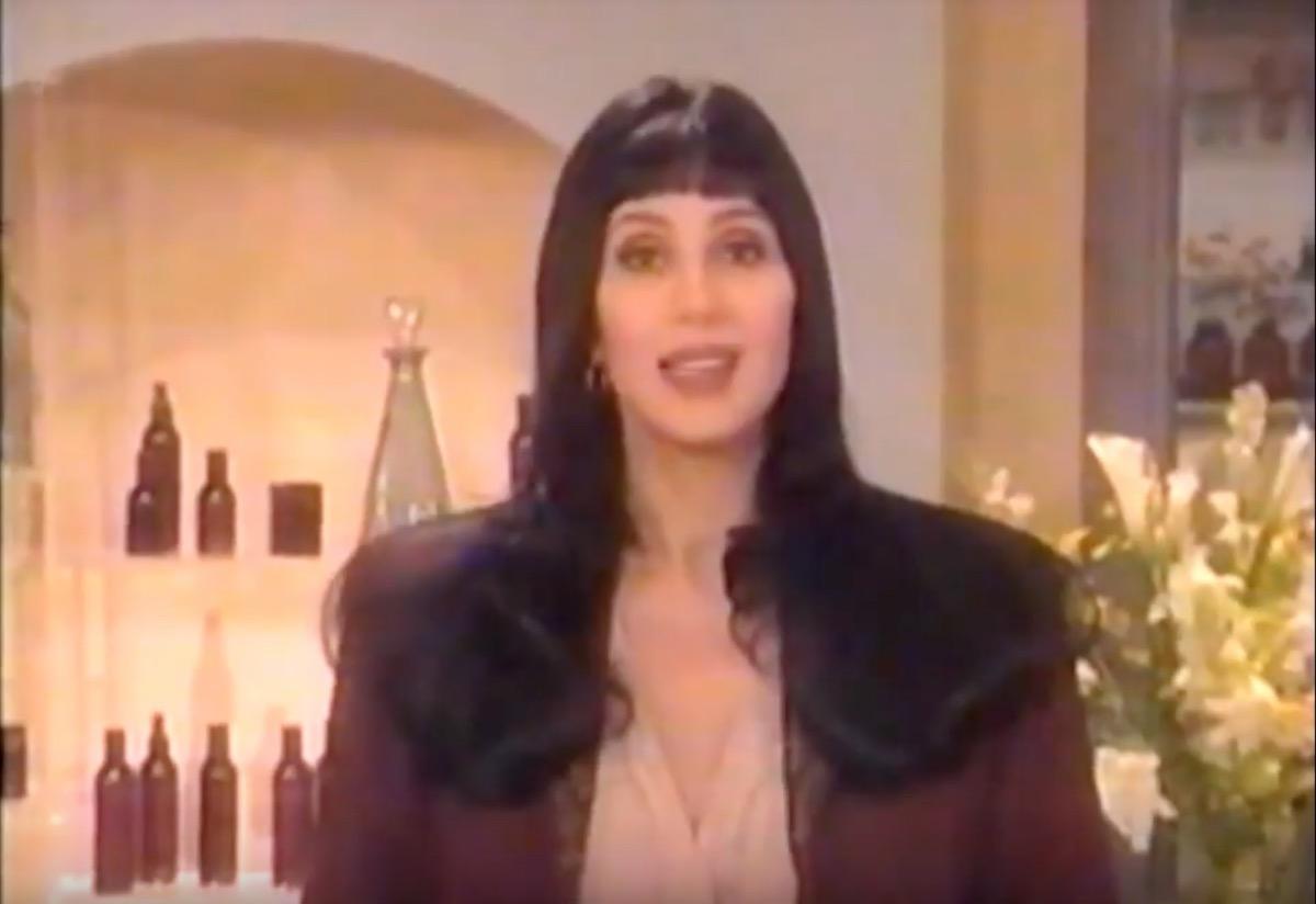 cher celebrity commercial, celebrity infomercial