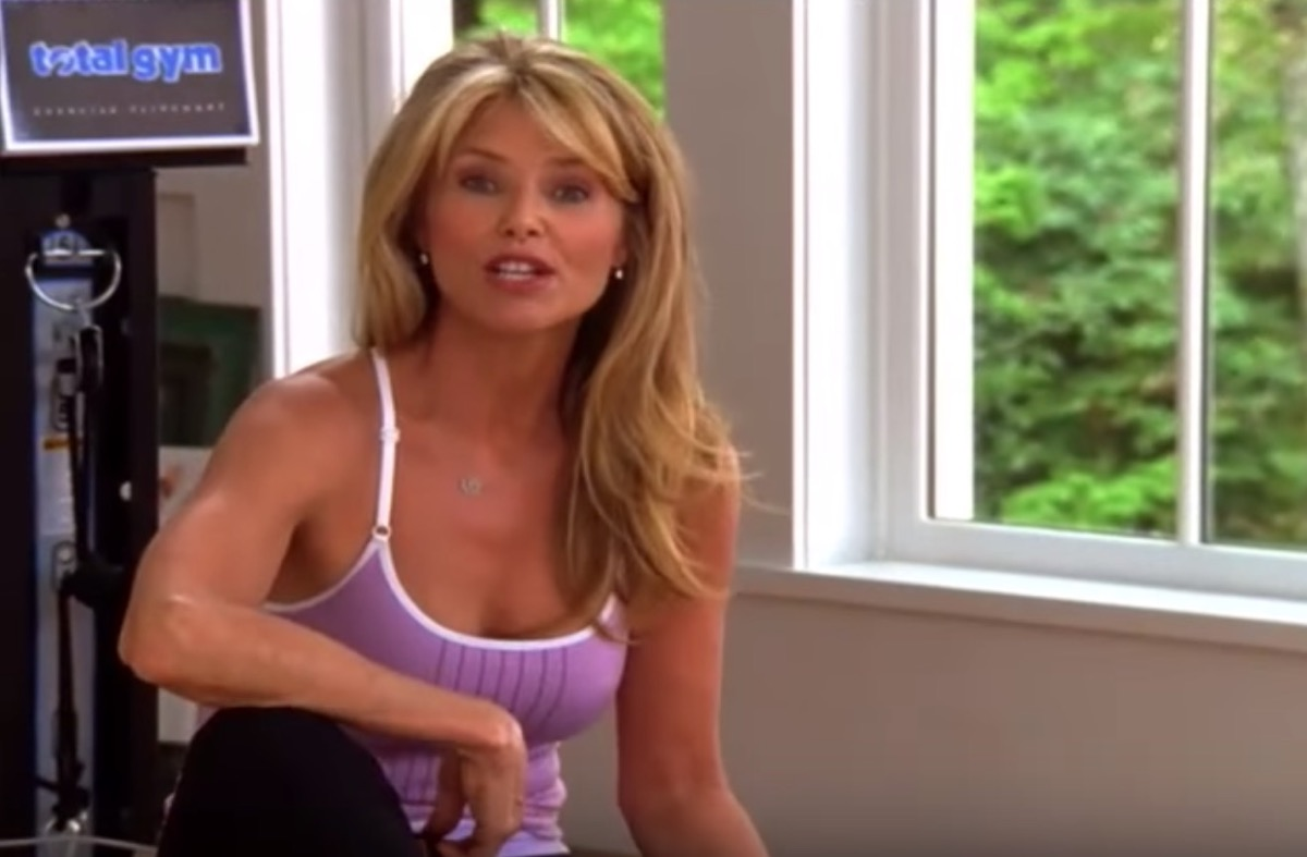 christie brinkley exercising on the total gym, celebrity infomercial