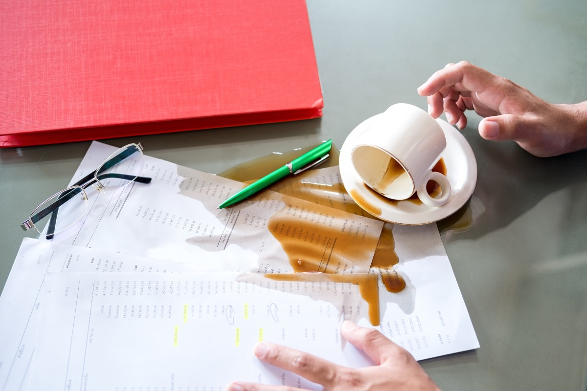 A Coffee Spill on the Table The Struggle is Real Slang Terms