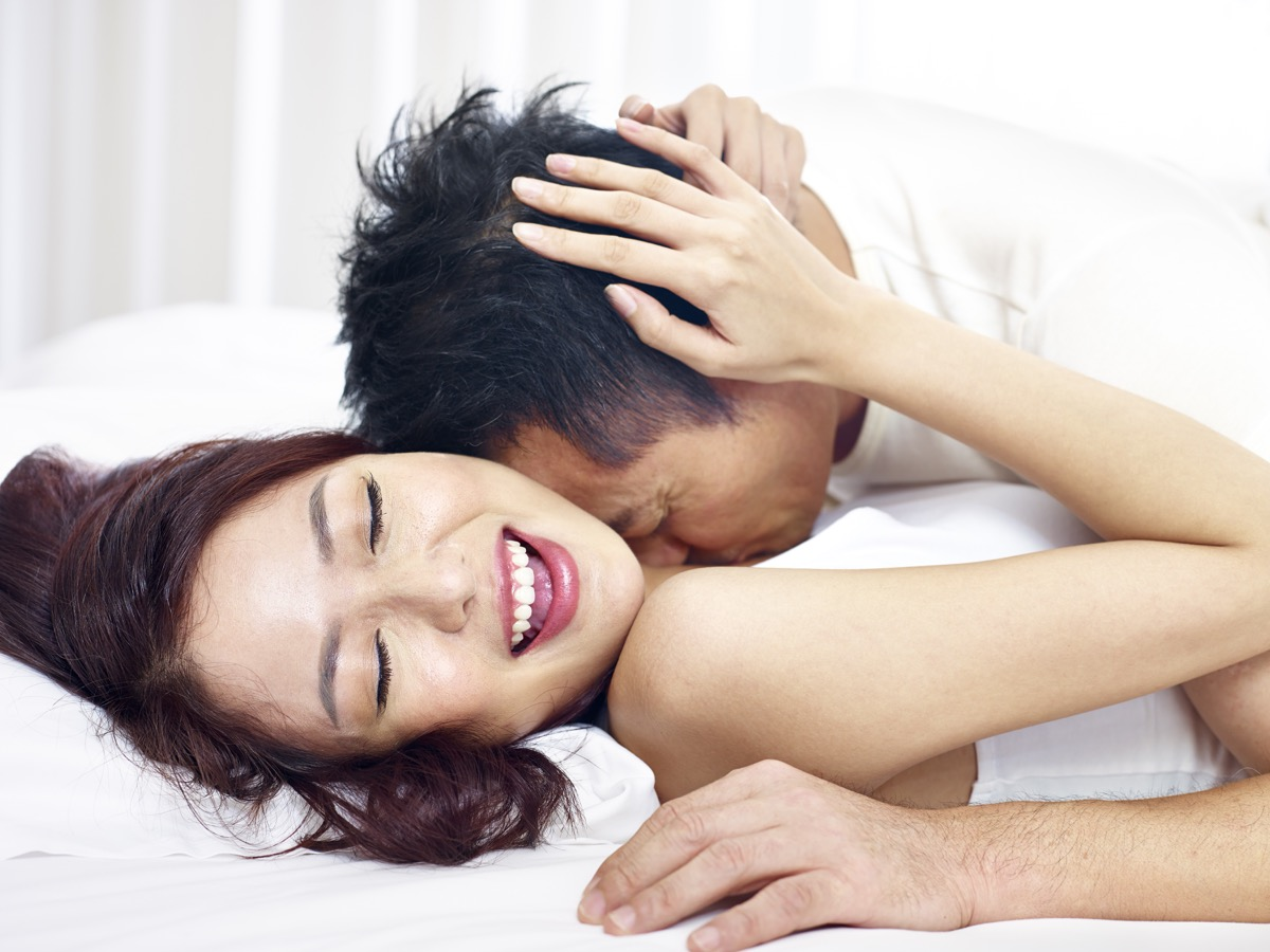 couple in bed, older couple, health questions after 40