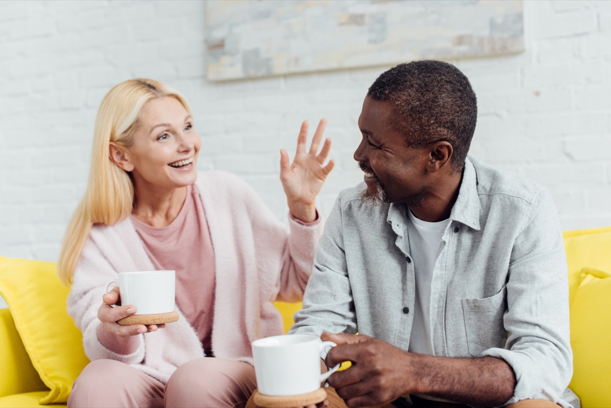 couple laughing at each other, healthy sex after 40