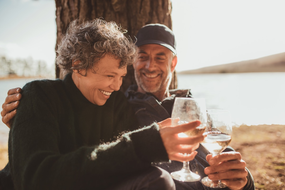 couple having a picnic with wine, better husband