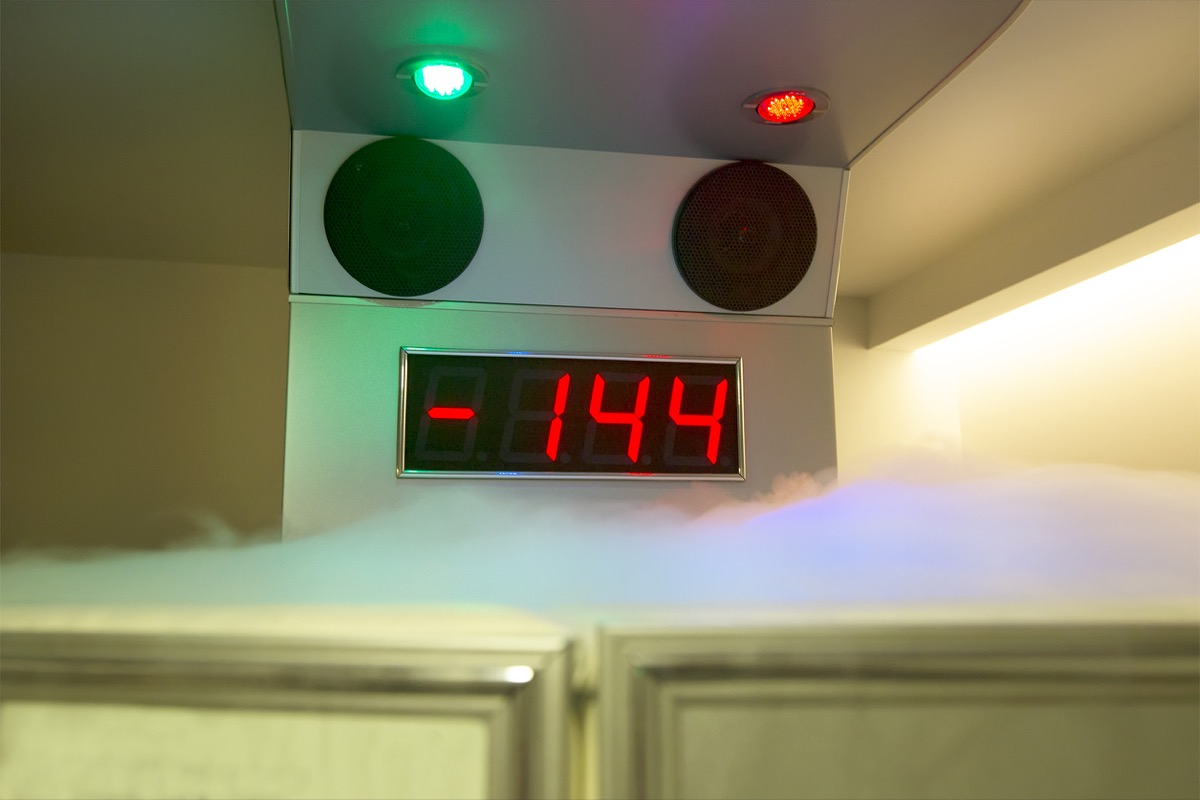 cryotherapy machine, over 40 fitness
