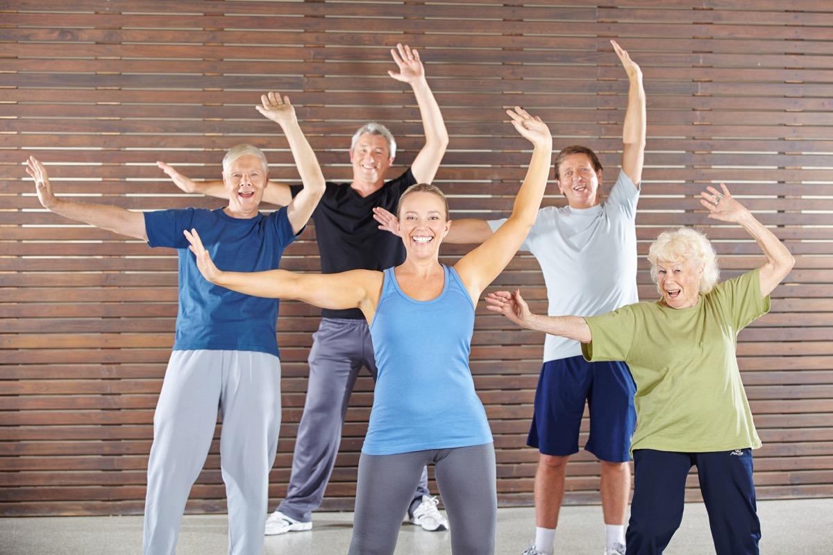 Older people dance class