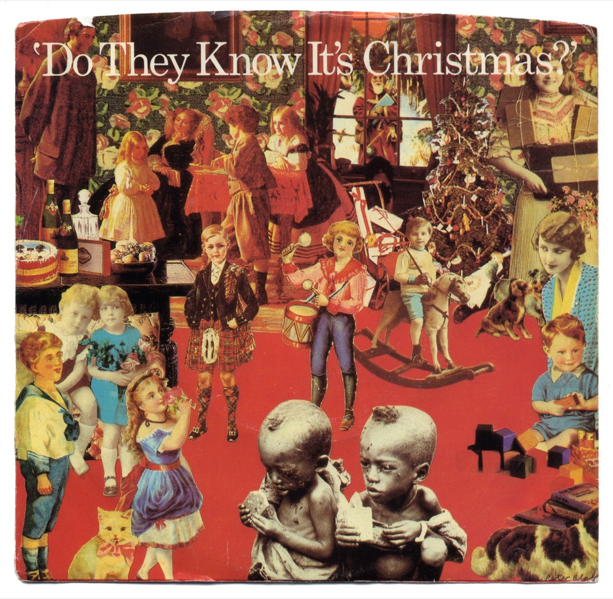 do they know it's christmas cover art, 1980s nostalgia