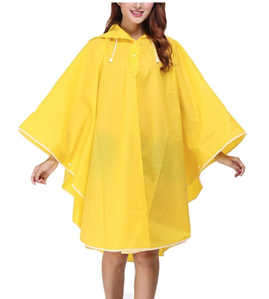 yellow rain poncho from doreyi
