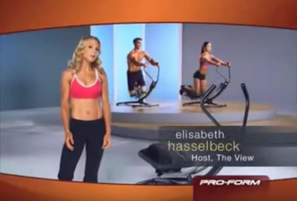 elisabeth hasselbeck ab glider commercial, celebrity infomercial