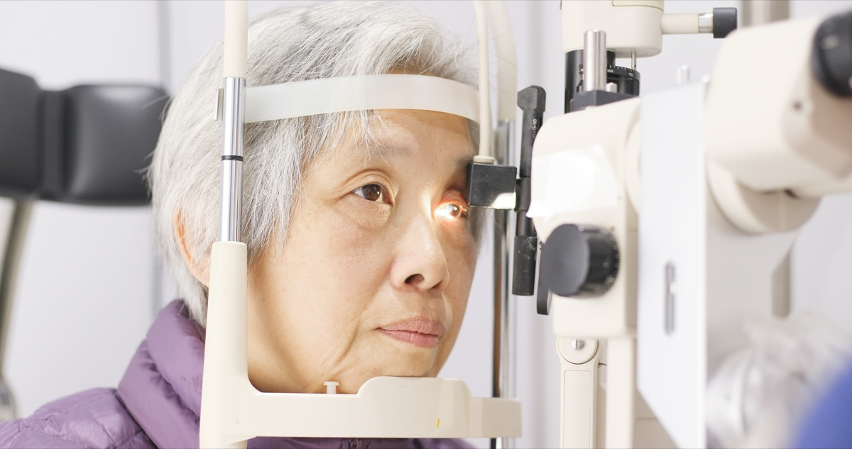 vision test at the eye doctor for a woman, subtle symptoms of serious disease
