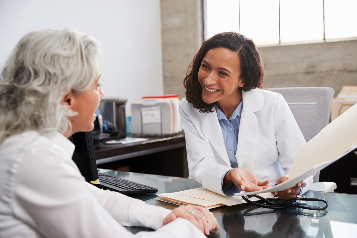 female doctor and female patient talking to each other, heart health risks