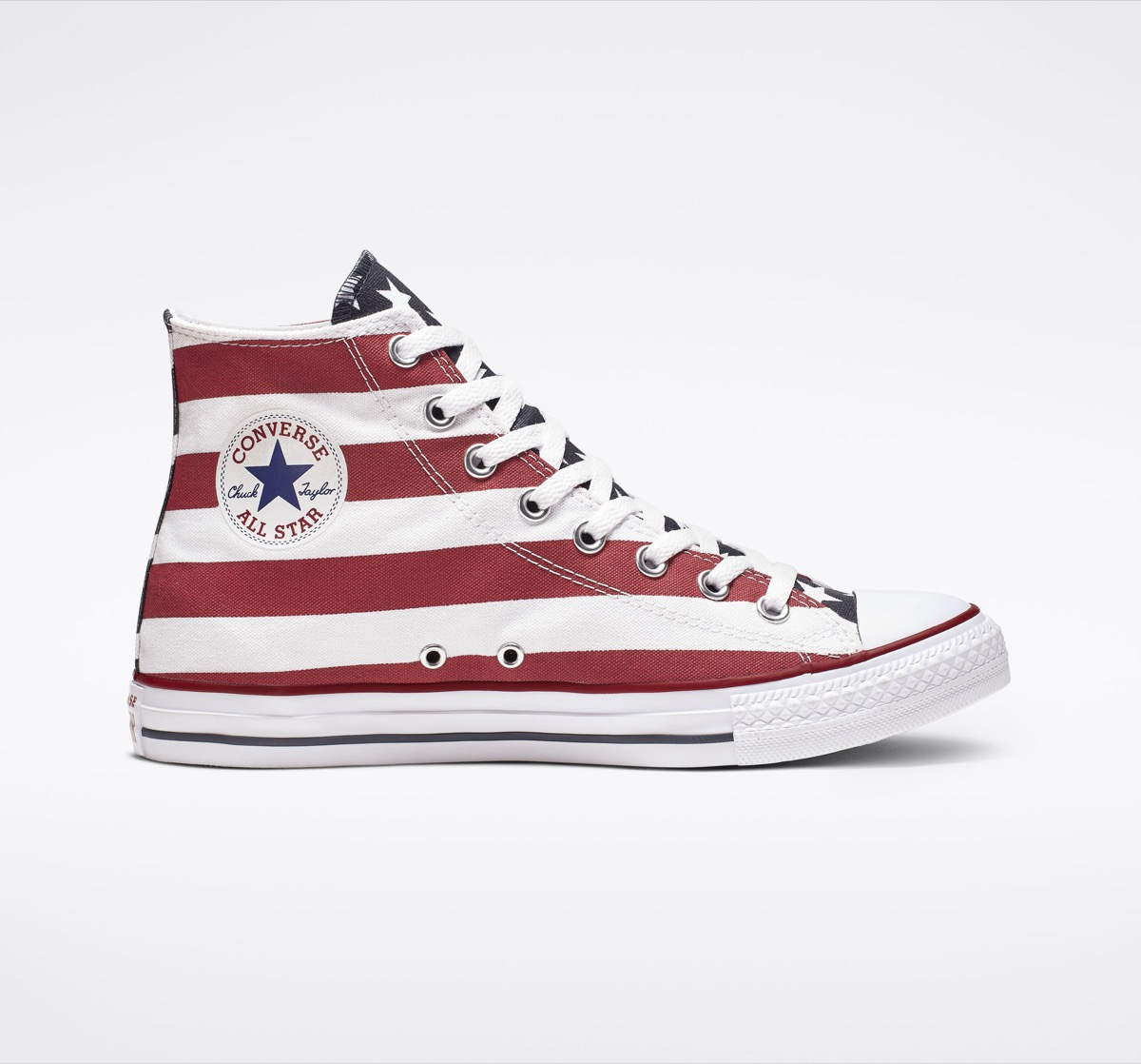 Red White and Blue Converse High Tops Fourth of July Accessories