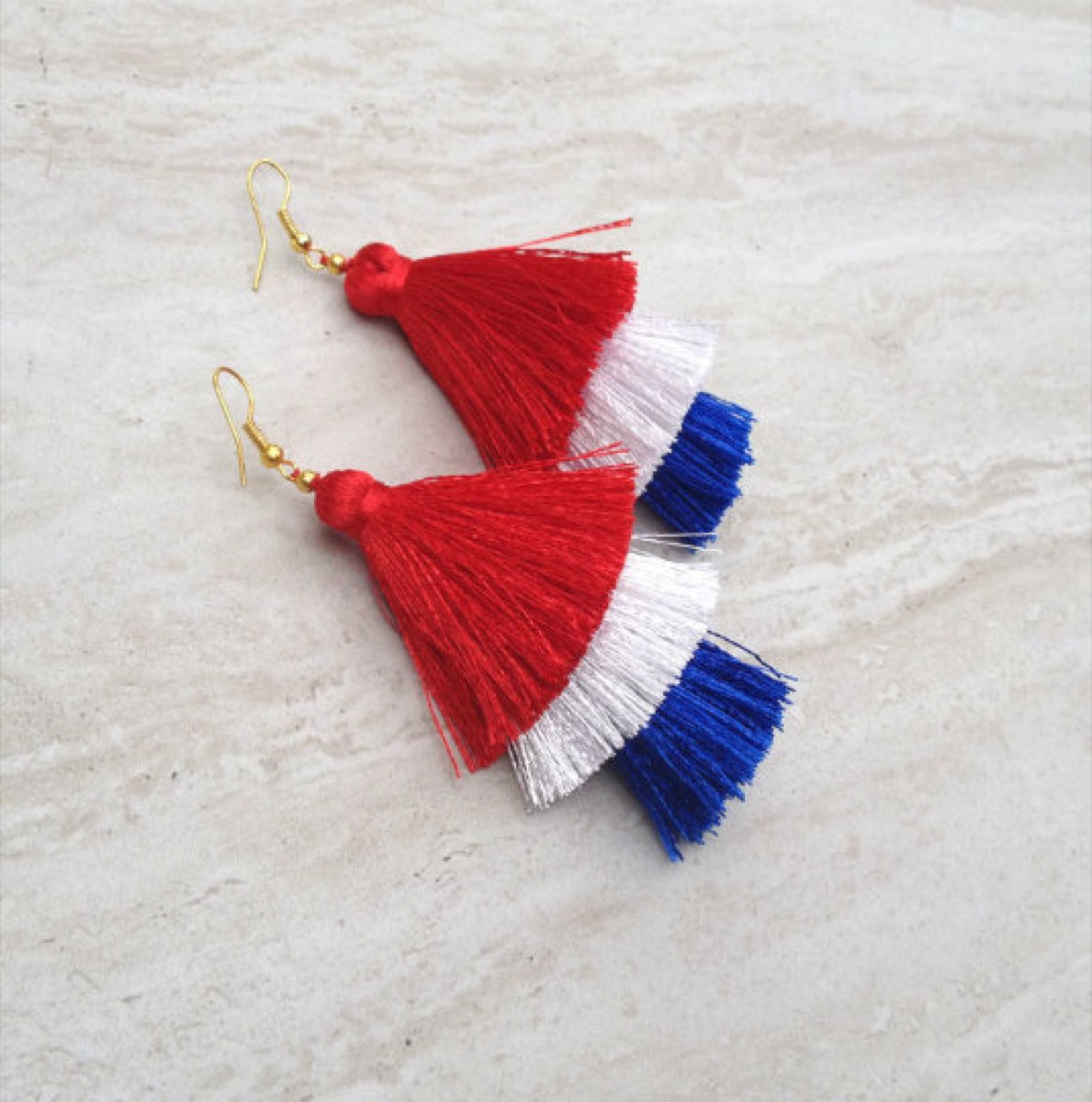 Fourth of July Tassel Earrings Fourth of July Accessories