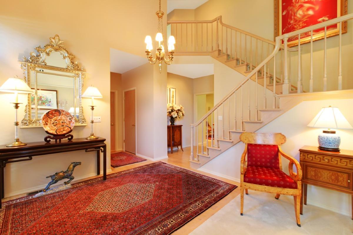 vintage rug, vintage home upgrades