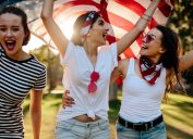 Friends Celebrating July 4 Fourth of July Accessories