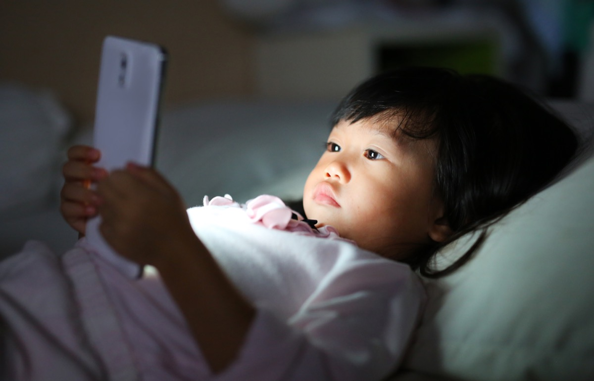 Little Girl on Her Smartphone, bad parenting