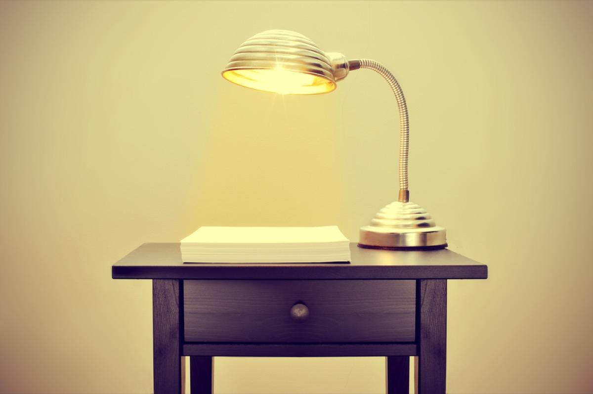antique lamp, vintage home upgrades