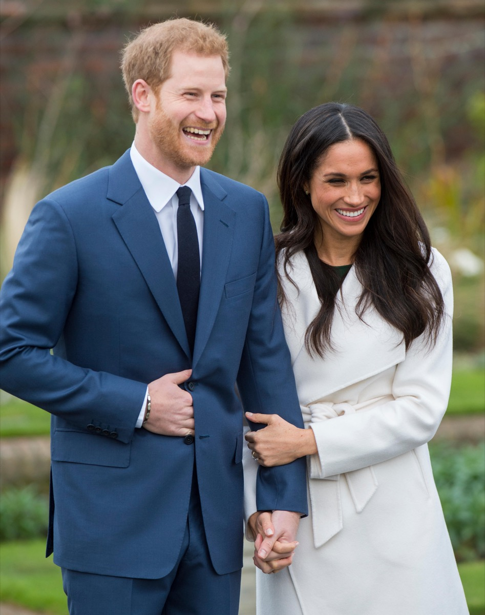 Kensington Palace announce the engagement of Prince Harry Wales to U.S. Actress Meghan Markle in the water garden of Kensington Palace in London.
