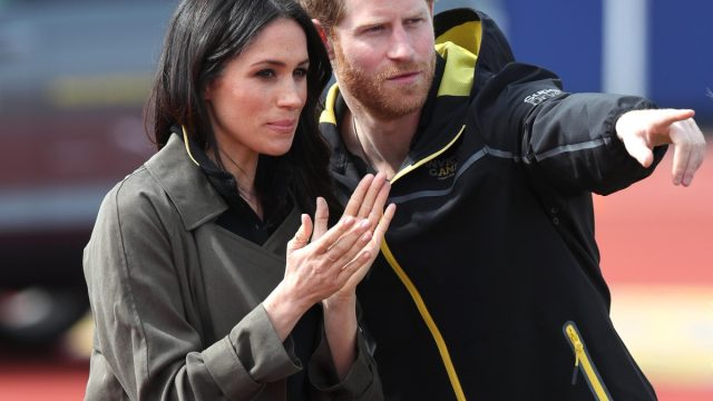 Prince Harry and Ms Meghan Markle as they attend the UK Team Invictus Games trials held at Bath University Sports training village in Somerset.