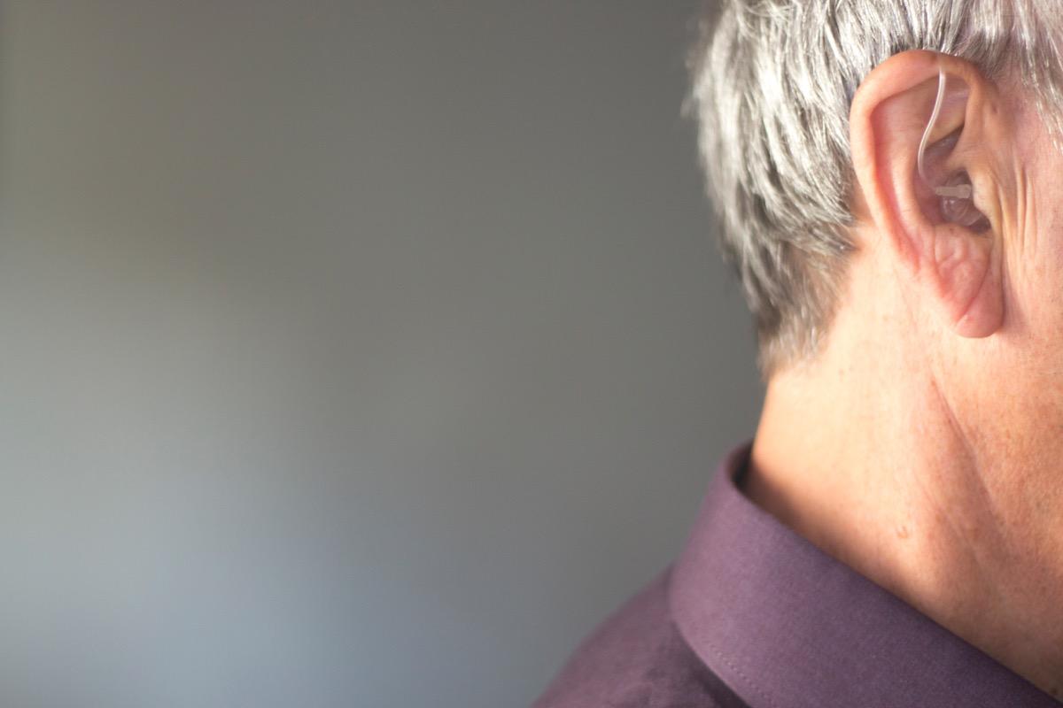hearing aid for man, dad jokes